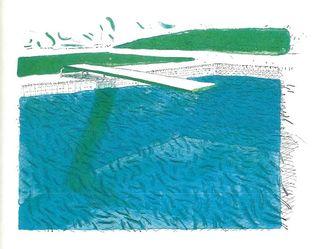 Hockney Crayon Blue Wash