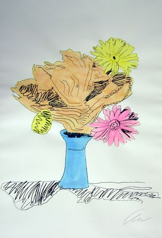 Warhol Hand colored Flowers