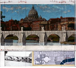 Christo Ponte Angelo Wrapped Rome
