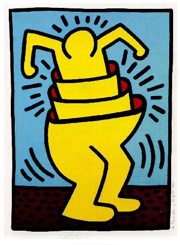 Haring Untitled Cupman